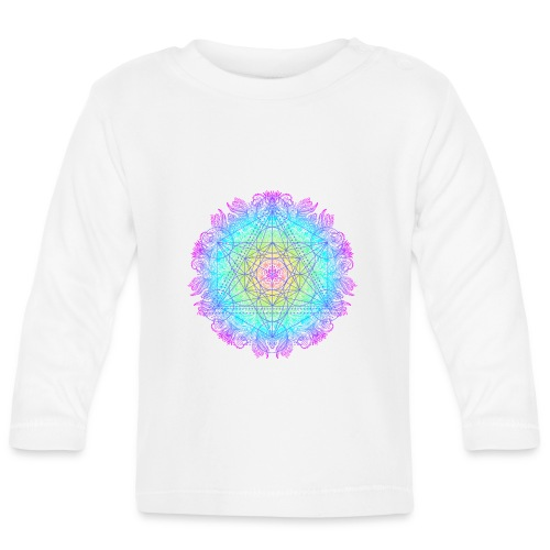 Cube de Métatron , géométrie sacré de l'archange - T-shirt manches longues Bébé