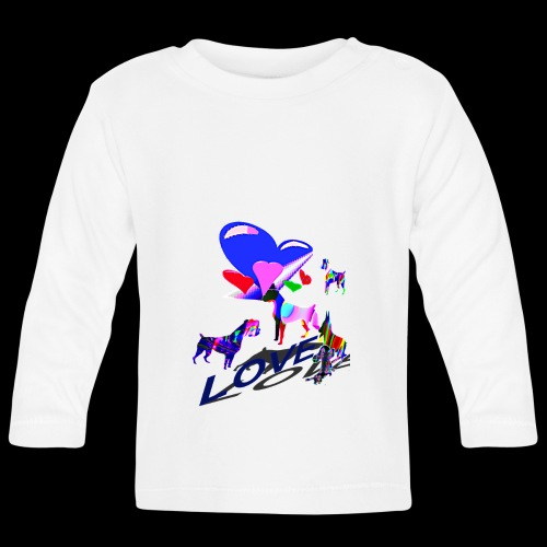 look at these dogs love - T-shirt manches longues Bébé