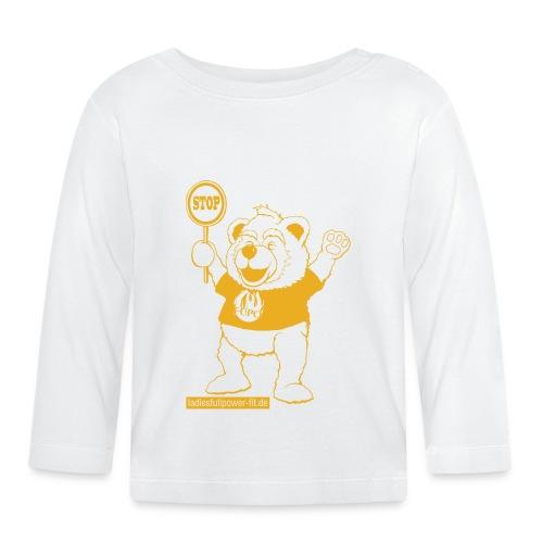 FUPO der Bär. Druckfarbe Orange - Baby Langarmshirt