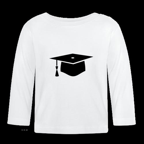 einfacher Doktorhut - Geschenk zur Doktorarbeit - Baby Langarmshirt