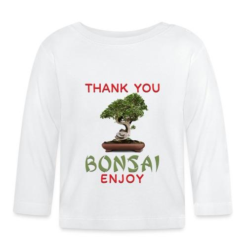 Dziękuję Ci Bonsai - Koszulka niemowlęca z długim rękawem