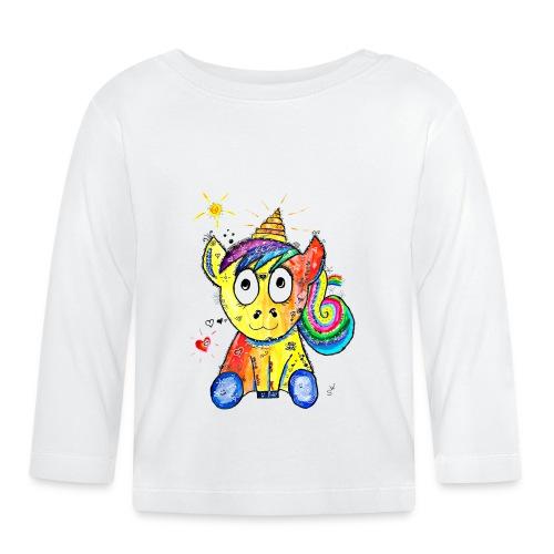 Happy Unicorn - Baby Langarmshirt