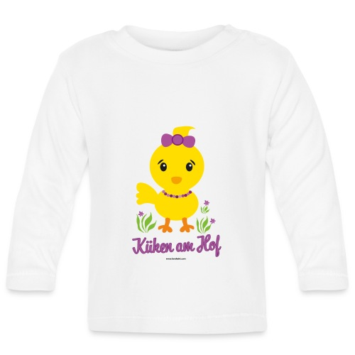 Ostern für kleine Mädchen - Baby Langarmshirt