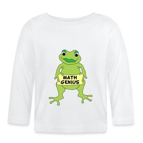 Math Genius Frog - Baby Long Sleeve T-Shirt