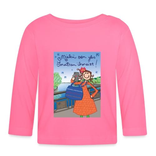 Miekii oon yks Imatran Ihmeist hiirimatto - Vauvan pitkähihainen paita