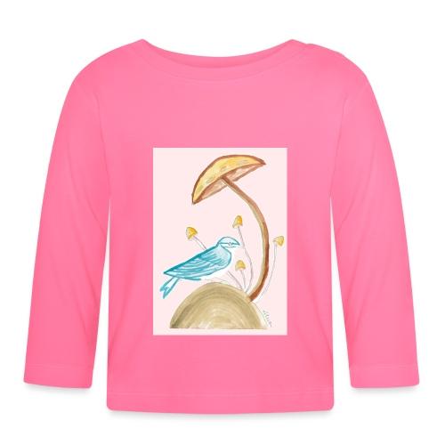 fungo con uccello - Maglietta a manica lunga per bambini