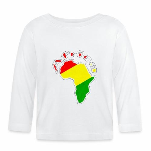 Afrika - rot gold grün - Baby Langarmshirt