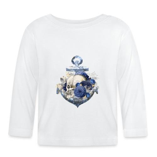 Totenkopf Blumenanker - Baby Langarmshirt