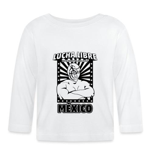 Lucha Libre Mexico Negro - Camiseta manga larga bebé