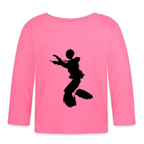 Wing Chun / Kung Fu Tusche Figur VEKTOR - Baby Long Sleeve T-Shirt