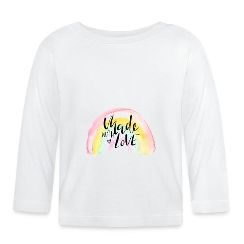 Made with Love Rainbow Baby - Baby Langarmshirt