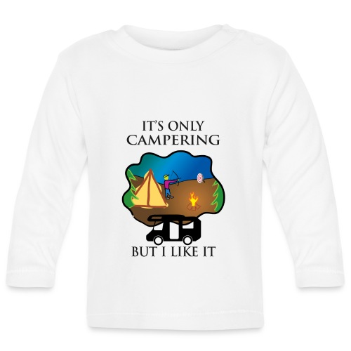 To tylko campering, ale to lubię - Koszulka niemowlęca z długim rękawem