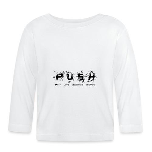 PUSH Black TEE - Baby Langarmshirt