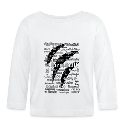 Werewolf in 33 Languages - Koszulka niemowlęca z długim rękawem