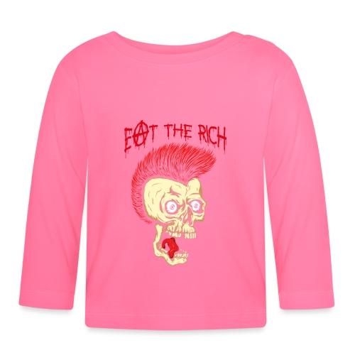 Eat The Rich (For Dark Shirts) - Baby Langarmshirt
