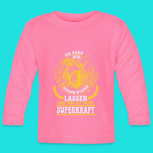 Bier Superkraft - Baby Langarmshirt