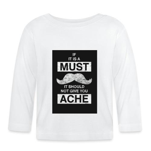 MUSTACHES 2 - Vauvan pitkähihainen paita