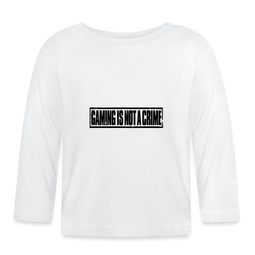 Gaming is not a crime - T-shirt manches longues Bébé