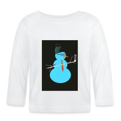 Hockey snowman - Vauvan pitkähihainen paita
