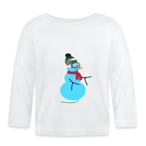 Snowboarding snowman - Vauvan pitkähihainen paita