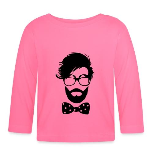 hipster_med_briller_og_butterfly - Langærmet babyshirt