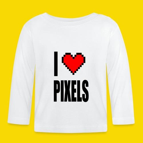 I Love Pixels - Koszulka niemowlęca z długim rękawem