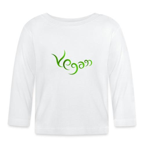 Vegaani käsinkirjoitettu design - Vauvan pitkähihainen paita