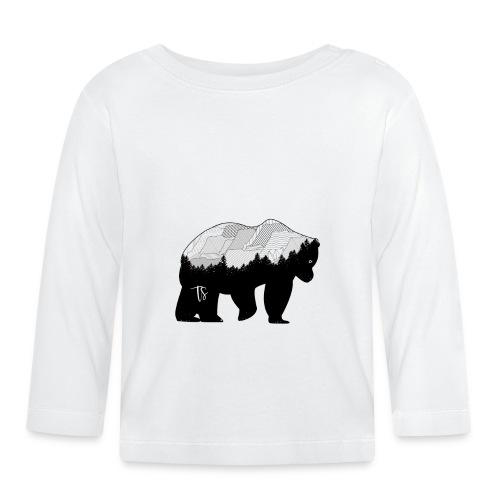 Geometric Mountain Bear - Maglietta a manica lunga per bambini