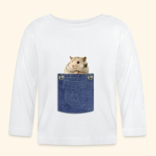 hamster in the poket - Maglietta a manica lunga per bambini