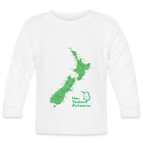New Zealand's Map - Baby Long Sleeve T-Shirt