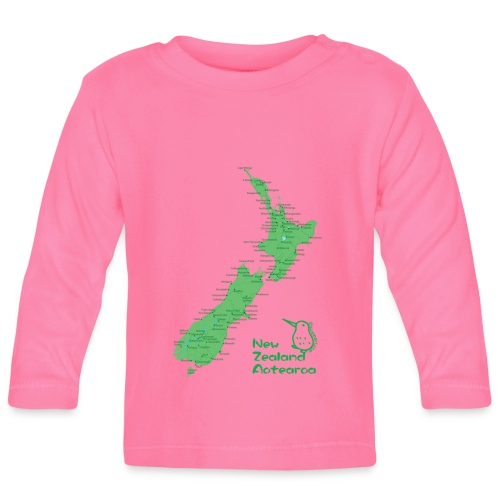 New Zealand's Map - Baby Long Sleeve T-Shirt