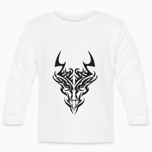 tribal dragon - T-shirt manches longues Bébé