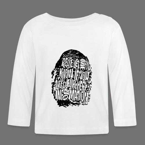 Fingerprint DNA (black) - Baby Long Sleeve T-Shirt