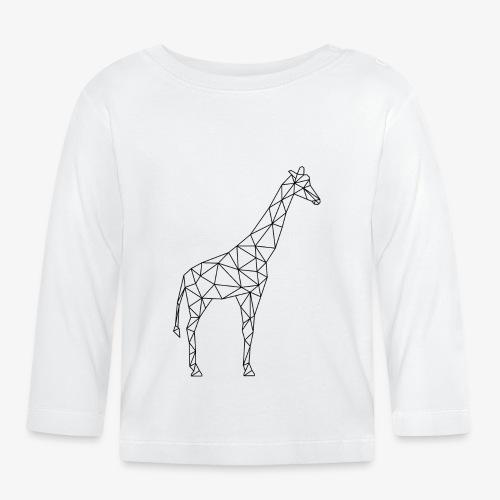 Giraffe Geometrisch schwarz - Baby Langarmshirt