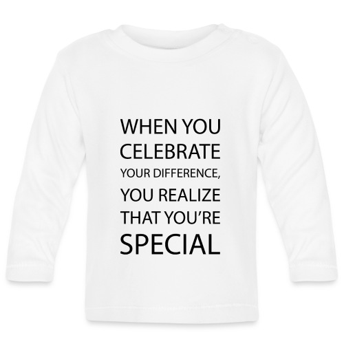 You're special - Langærmet babyshirt
