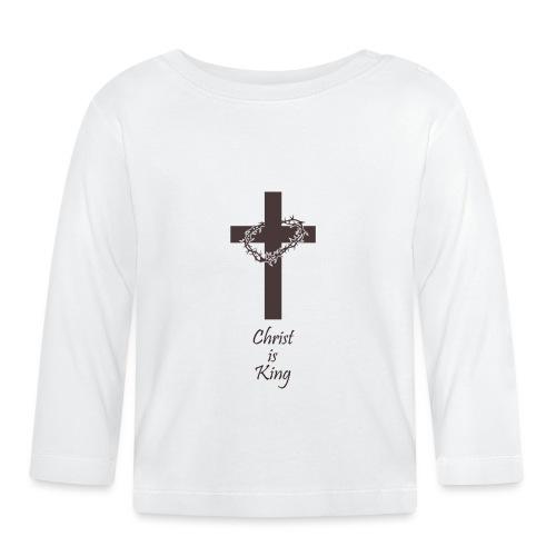 Jesus starb am Kreuz für dich I Christen Geschenk - Baby Langarmshirt
