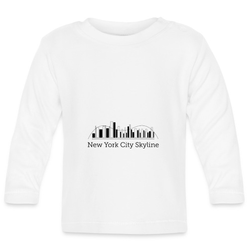 ny skyline - Koszulka niemowlęca z długim rękawem