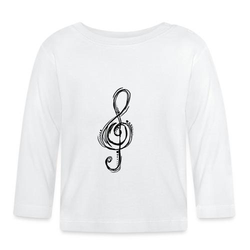 Violinschlüssel - Baby Langarmshirt