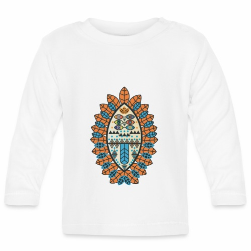 Tribal mask - Baby Long Sleeve T-Shirt
