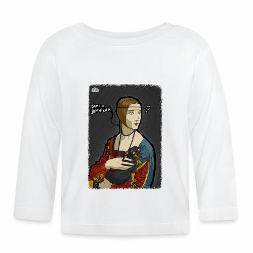 Dama z jamnikiem - Koszulka niemowlęca z długim rękawem