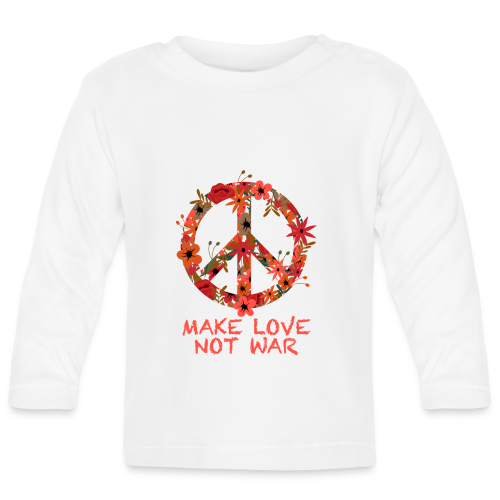 Hippie flowers peace - Baby Long Sleeve T-Shirt