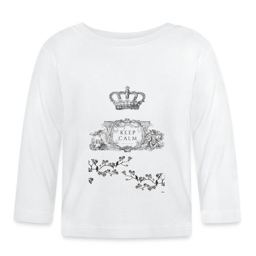 keep calm and kiss me - Camiseta manga larga bebé