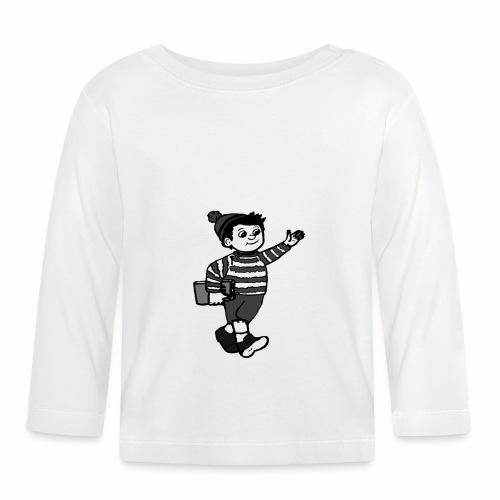 Cafe LillePer Logo BW - Langærmet babyshirt