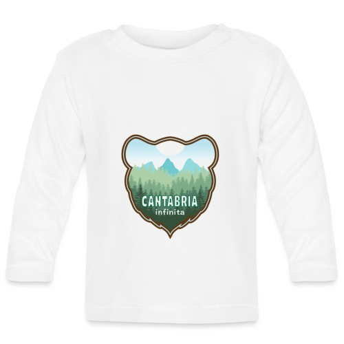 Oso en cantabria infinita - Camiseta manga larga bebé