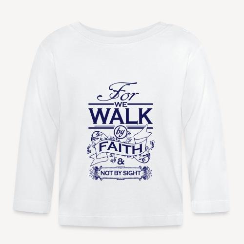 walk navy - Baby Long Sleeve T-Shirt