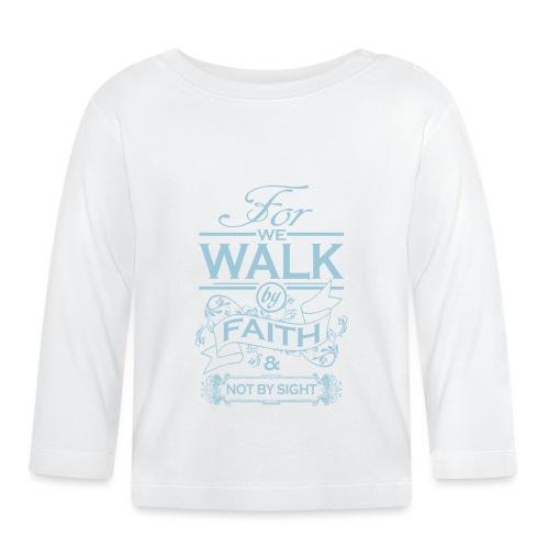 walk powder blue - Baby Long Sleeve T-Shirt