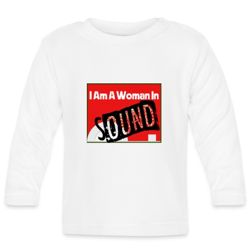 I am a woman in sound - red - Baby Long Sleeve T-Shirt