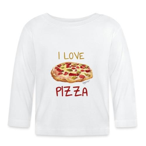 I love Pizza - Baby Langarmshirt