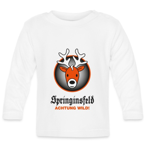 Achtung wild! for white - Baby Langarmshirt