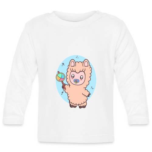 Baby Llama - Langærmet babyshirt